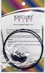 Knitter's Pride Interchangeable Black Cords - Silver Joins
