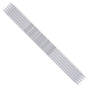 Addi 4 inch (10 cm) Aluminum Double Point Knitting Needles