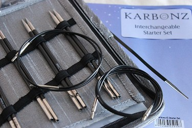 Knitter's Pride Karbonz Interchangeable Knitting Needle Starter Set
