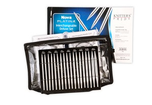 Knitter's Pride Nova Platina Interchangeable Knitting Needle Deluxe Set