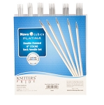 Knitter's Pride Nova Cubics Platina 6 inch Double Point Needle Set