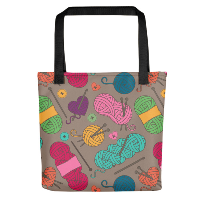 Knitting Tote Bag (Version G) by Handsome Fibers