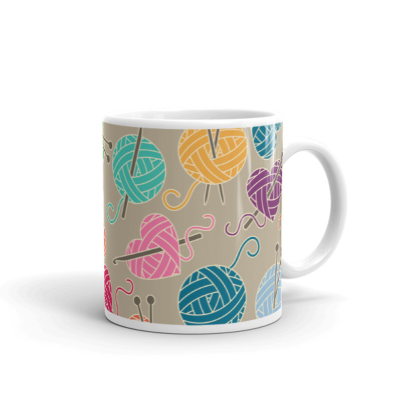 Knitting Coffee Mug 11oz Ceramic (Version A)