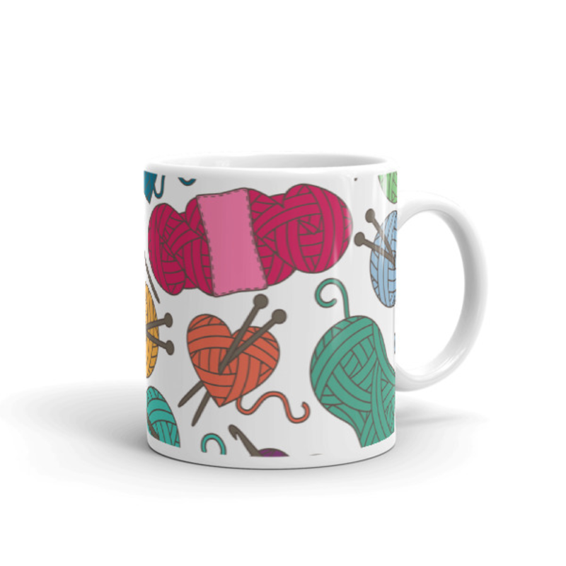 Knitting Coffee Mug 11oz Ceramic (Version B)