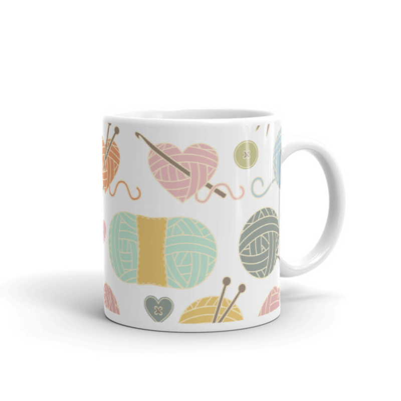 Knitting Coffee Mug 11oz Ceramic (Version C)