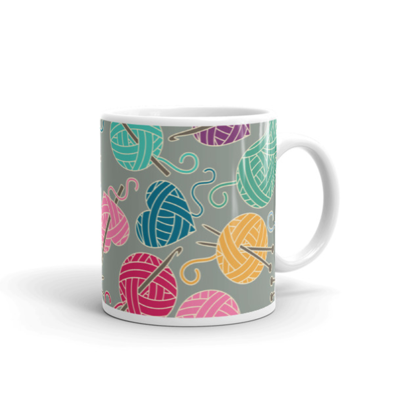 Knitting Coffee Mug 11oz Ceramic (Version D)