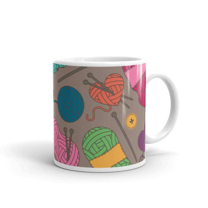 Knitting Coffee Mug 11oz Ceramic (Version I)
