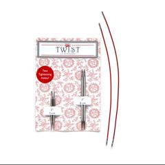 US-0 thru US-3 Interchangeable Knitting Set ChiaoGoo TWIST Shorties