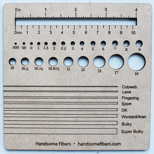 NEW! Knitting 4 inch Swatch-Gauge by Handsome Fibers