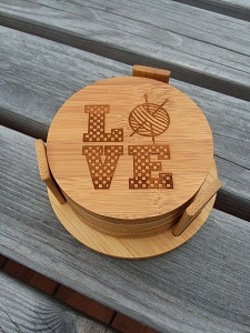 Natural Bamboo Round Coasters by Handsome Fibers