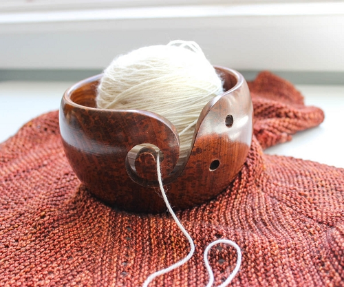 Indian Rosewood Yarn Bowl By Purple Heart