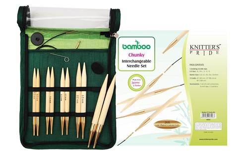 Knitter's Pride Bamboo Chunky Long Tip Interchangeable Knitting Set