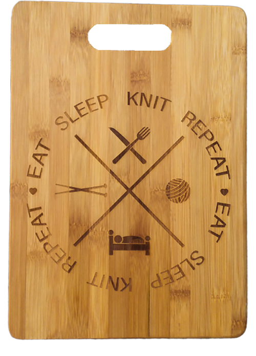 Eat Knit Sleep Repeat Front