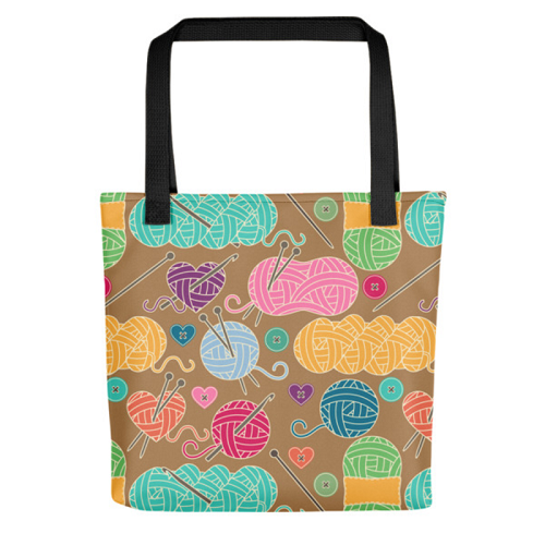 Knitting Tote Bag (Version I) by Handsome Fibers