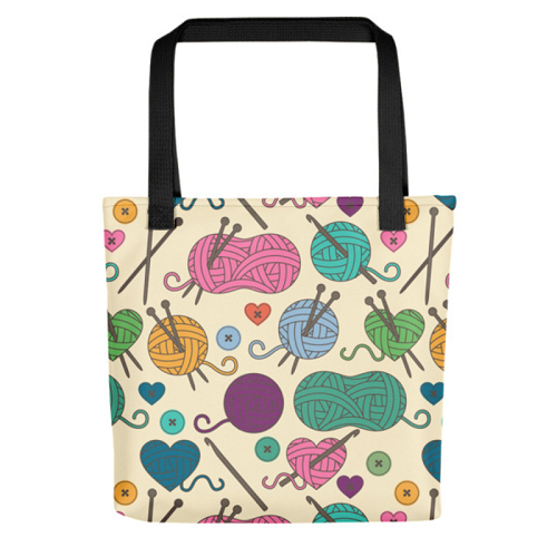 Knitting Tote Bag (Version F) by Handsome Fibers