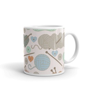 Knitting Coffee Mug 11oz Ceramic (Version E)