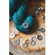 Knitters Pride Mindful Sterling Silver Plated Chakra Stitch Markers
