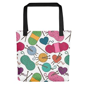 Knitting Tote Bag (Version L) by Handsome Fibers